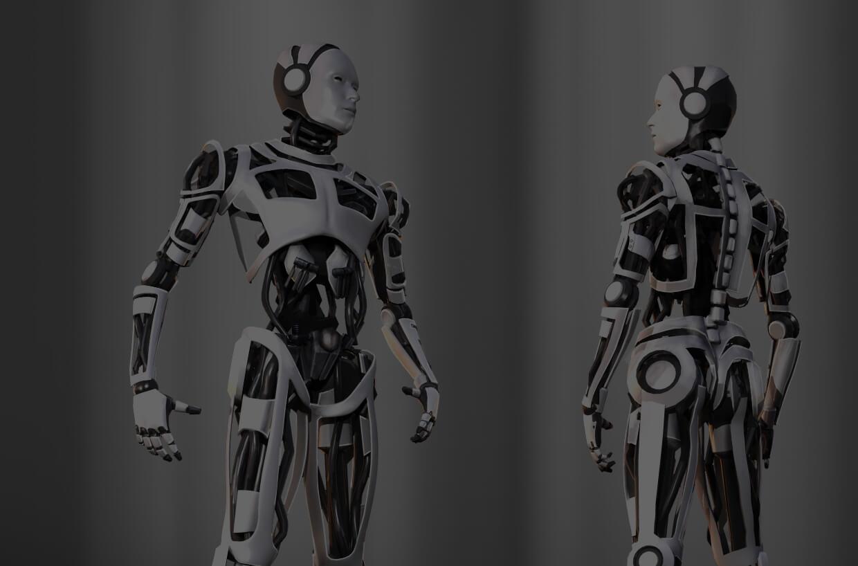 New book illustration cyborg
